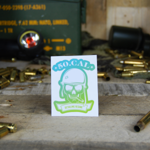50cal Detailing Logo Green Blue Sticker