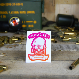 50cal Detailing Logo Pink Orange Sticker
