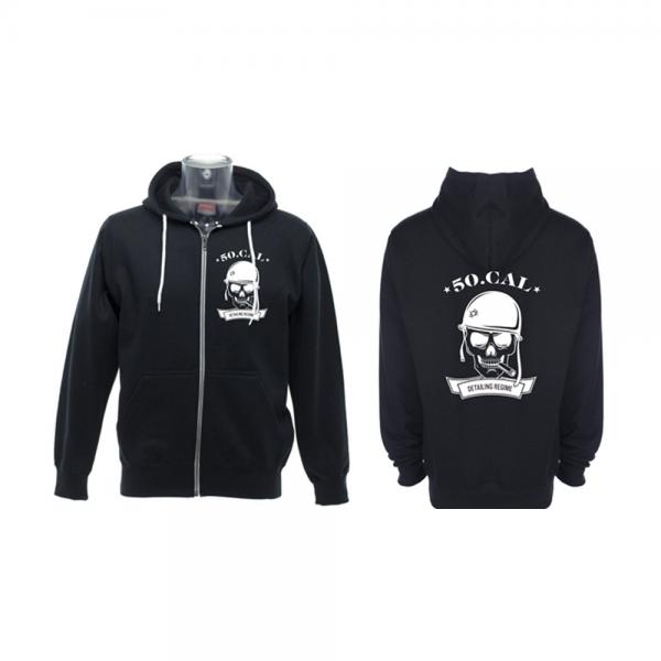 50cal detailing zip up hoodie